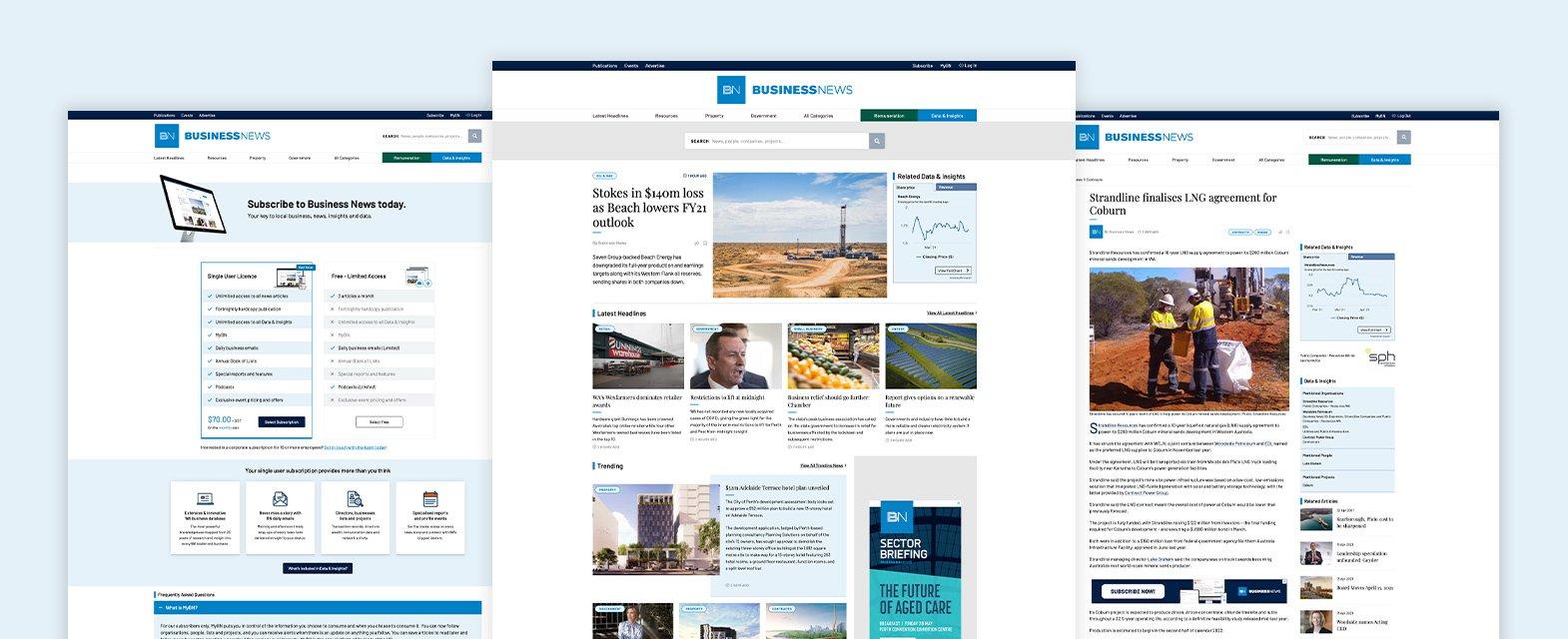 Business News Webpage