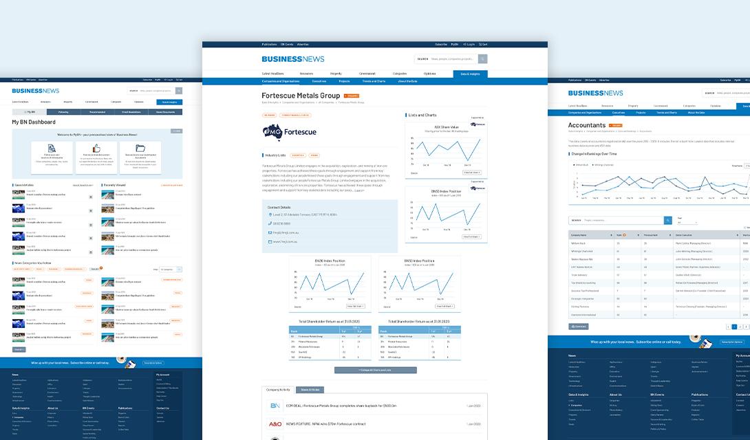 Business News Web Development Result