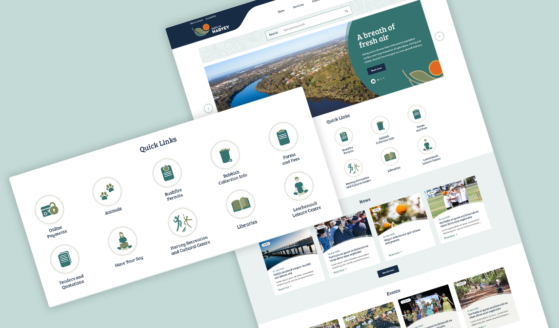 Shire of Harvey Web Development Result
